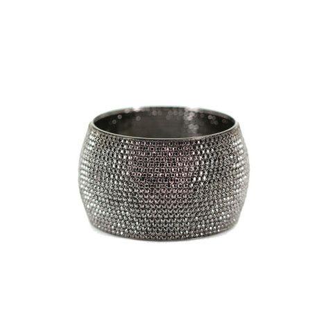 Swarovski Crystal Wide Cuff Bracelet – Andreia Fuzon Jewelry