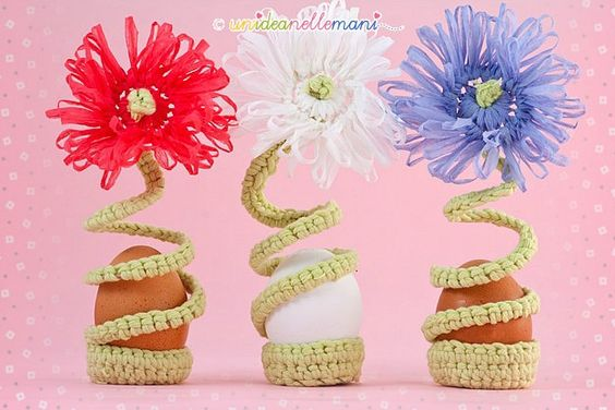 Fiori all 39 uncinetto fai da te and fiore on pinterest - Decorazioni pasquali uncinetto ...