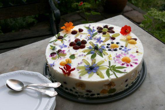 bolo de flores naturais