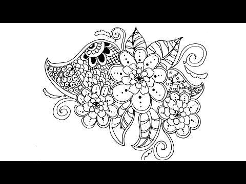 Drawing Beautiful Flower Zentangle Art Flower Tutorial Drawing For Coloring Page Ragam Hias Flora Flower Art Drawing Flower Drawing Flower Drawing Tutorials