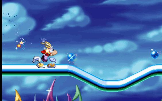 Rayman. Over and over and over