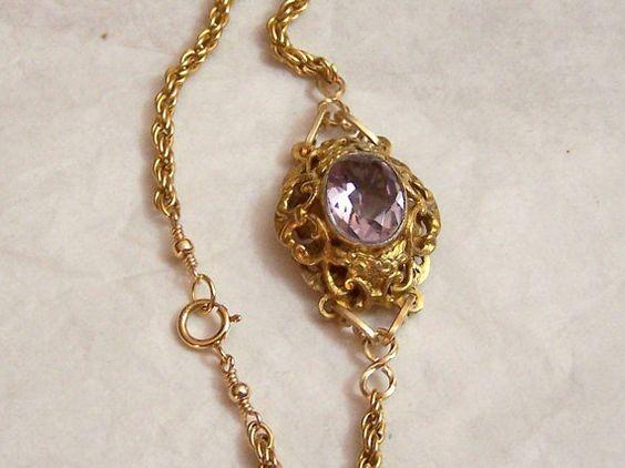 Vintage Link Bracelet Gold Filled Chain by ExquisiteStudios