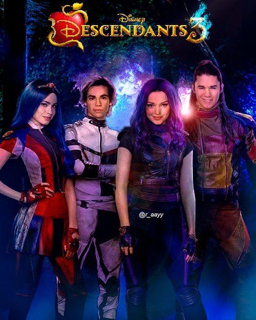 Descendants 3 Poster V2 Descendants3 Disneydescendants3 Mal Evie Carlos Jay Descendants2 Dovecameron Disney Decendants Disney Descendants Descendants