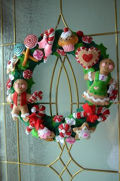 guirlanda de doces  Christmas Wreath by sushicandy