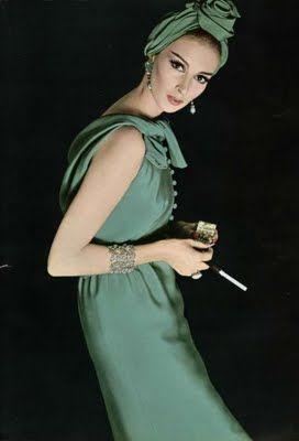 Wilhelmina Cooper in Green