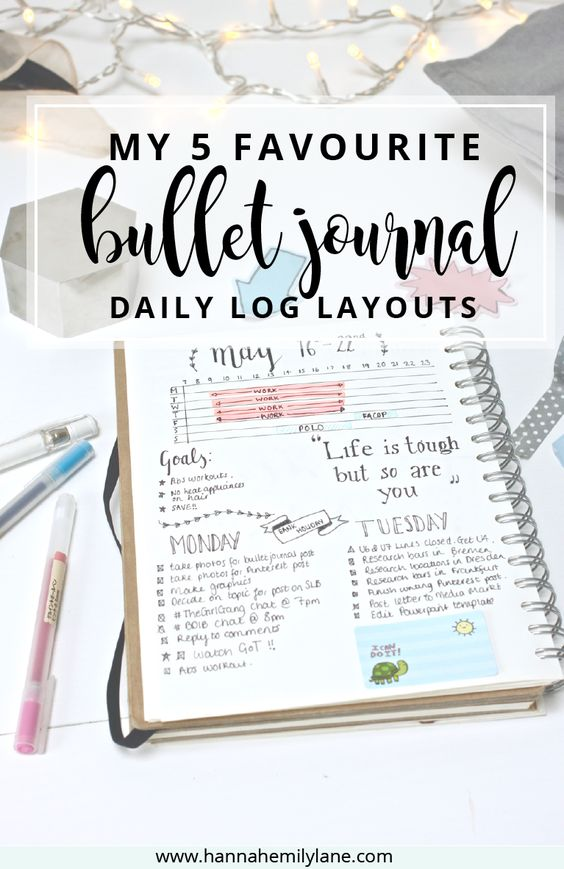 Change up your bullet journal pages with this daily log layout inspiration   www.hannahemilylane.com