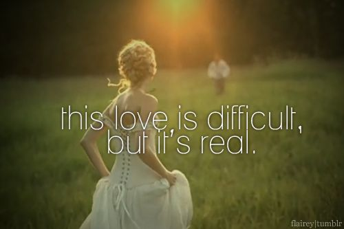 Don't be afraid, we'll make it out of this mess...It's a love story, baby just say yes <3