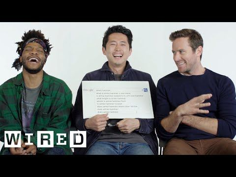Sorry To Bother You Stars Armie Hammer Steven Yeun And Jermaine Fowler Take The Wired Autocomplete Intervie Steven Yeun Armie Hammer This Or That Questions