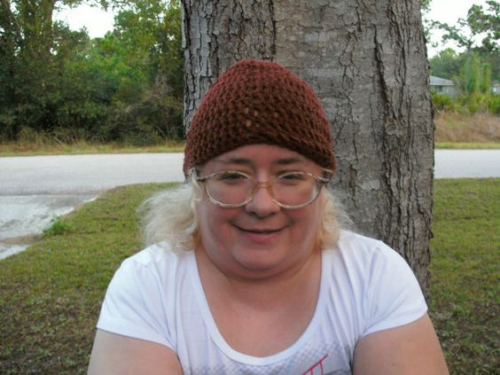 Handmade Crocheted biker hat by CanadianCraftCritter on Etsy, $20.00