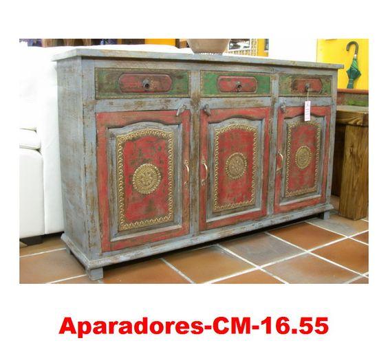 Muebles pintados a mano artesan a de la india cat logo - Muebles pintados vintage ...