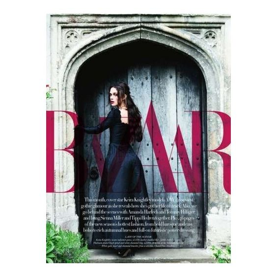 Gothic Queen Pictorials Keira Knightley is Captured for Harper's... ❤ liked on Polyvore