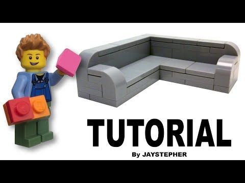 Lego Sectional Sofa How To Tutorial Youtube Lego Activities Lego Furniture Lego Projects