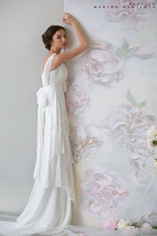 Art nouveau wedding dress.