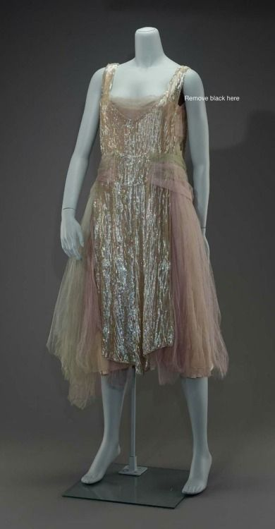 Evening dress, ca 1926 United States, MFA Boston