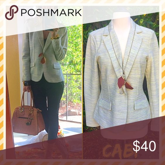 👜Cabi👜 Cabi chic fall jacket, I love rocking this look with fun booties & arm candy!. You will too!, if you are a Cabi lover this needs you!. CAbi Jackets & Coats Blazers