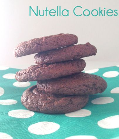 Nutella Cookies :: These Nutella cookies are sure to make any Nutella fan smile :)