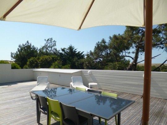 Villa de vacances avec piscine au Cap Ferret, en Gironde avec Coins