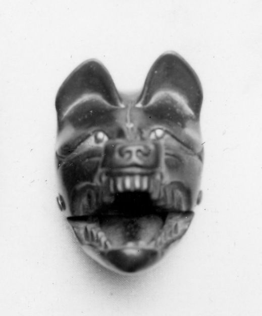 Netsuke of Fox Mask with Movable Jaw Period: Edo period (1615–1868) Date: 19th century Culture: Japan