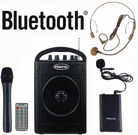 Hisonic HS210 Rechargeable Portable PA System with Wireless Microphone
