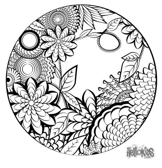 F rben mandalas and dschungel on pinterest for Dschungel malen