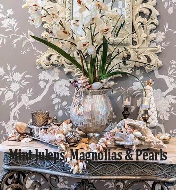 Seashell Entry Vignette from Mint Juleps, Magnolias & Pearls Blog: