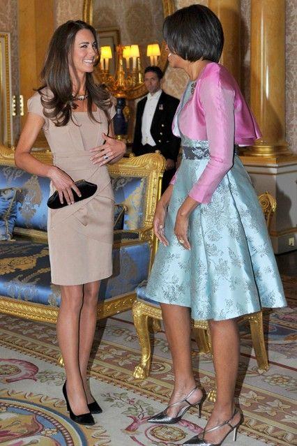 Kate and Michele Obama