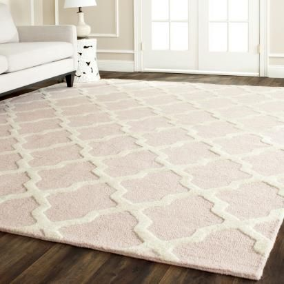 Bria Rug, Sweet Blush | Lulu and Georgia...love this touch of blush with gold and white