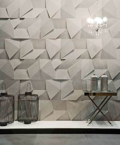 revestimento 3d de gesso scaleno parede - painel, placas 3d: