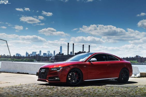 Thanks to some help from Illusions #NYC, this #Audi S5 was transformed into a more athletic head-turner compared to the other factory variants. The supercharged 3.0-liter V-6 engine pumping out 333 horsepower from 5,500 to 7,000 RPM and 325 lb-ft. of torque from 2,900 to 5,300 RPM puts a bit of stress on all four rims, but the new #Niche Wheels are more than capable of handling the muscle. Discount Wheels www.wheelhero.com