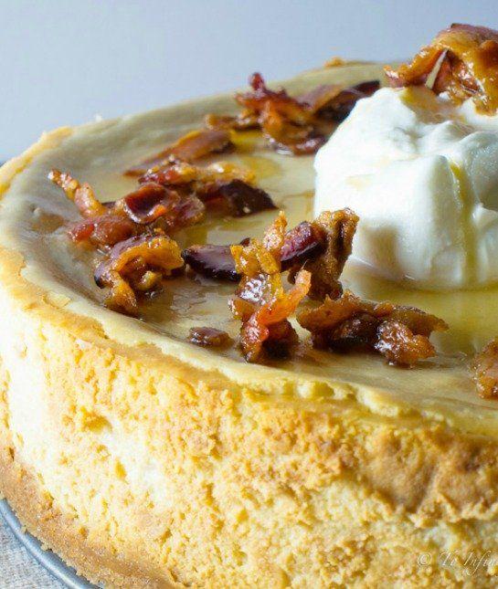 Maple bacon cheesecake, Bacon cheesecake and Maple bacon ...