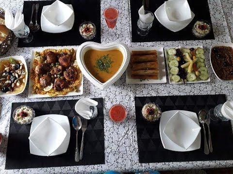 راكم معروضين عندي اليوم حضرت مائدة للضيوف ادخلو تشوفو و عطوني رايكم Youtube Menu Ramadan
