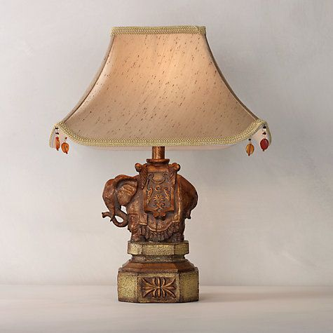 Buy john lewis elephant table lamp and shade online at for Table lamp shades john lewis