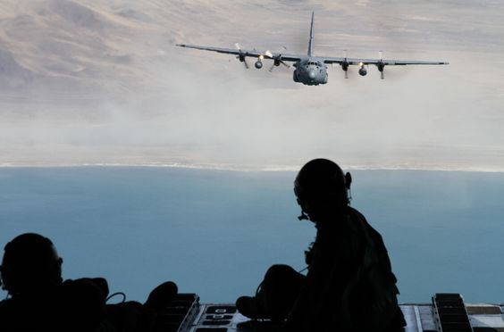 My brother flew with the Nevada Air National Guard over Pyramid Lake yesterday in a C-130. Opened the cargo door in flight to take shot of second C-130 behind.  Designed in the mid 50's and updated periodically, this has been a work  horse of an aircraft.