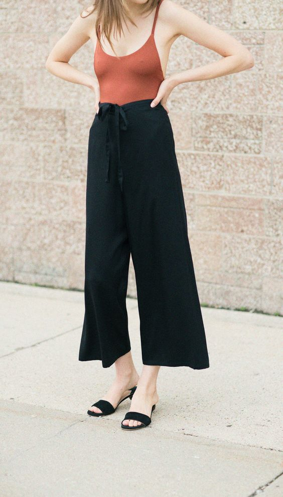 Shaina Mote Ink Tulia Pant, Alix Sienna Delano One Piece, & Brother Vellies Charcoal Sphere Sandal: