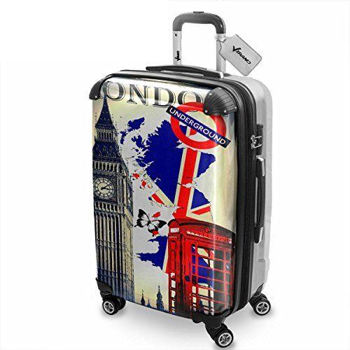 voyage london 4 england hard luggage trolley koffer. Black Bedroom Furniture Sets. Home Design Ideas