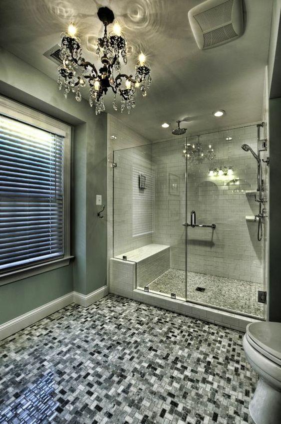 badezimmer deko moderne bader badezimmer in brau kronleuchter aus, Hause ideen