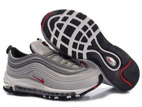 Nike Air Max 97 cheap Premium shoe Premium with band for woman grey red HOT