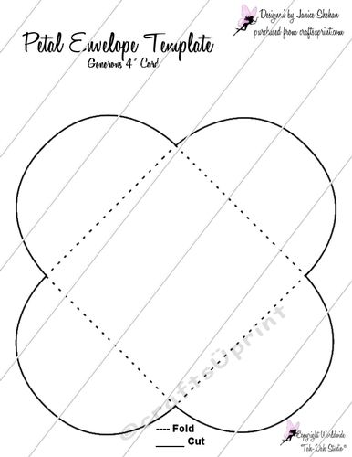Cup721298 2049 You Will Receive The Transparent Template For The Pictured Petal Envelope This Size Is Suitable For A Envelope Template Petal Hobbies To Try