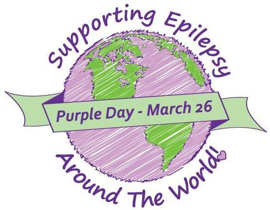 Purple Day - Supporting Epilepsy was started by a young girl suffering from severe epilepsy. Wear something(it can be anything) purple on March 26 in support of those suffering from epilepsy all around the world.