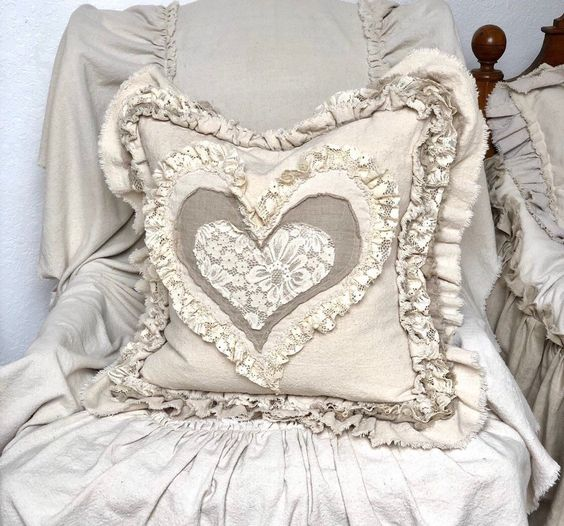 Excited to share this item from my #etsy shop: Canvas Custom Pillows Cover with Sayings Case w Ruffles Linen Lace Heart Pillow French Country Farmhouse Decor Wedding Birthday Gift 20x20 #housewares #pillow #pillowscovers #pillowswithruffles #farmhousepillows #farmhousepillow #armchairchair #weddinggift #homehousedesign
