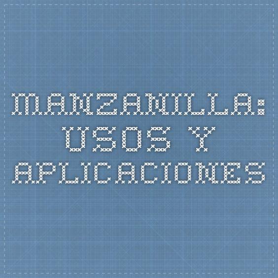Manzanilla: usos y aplicaciones