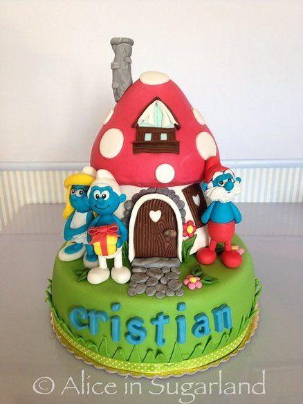The Smurfs Cake: