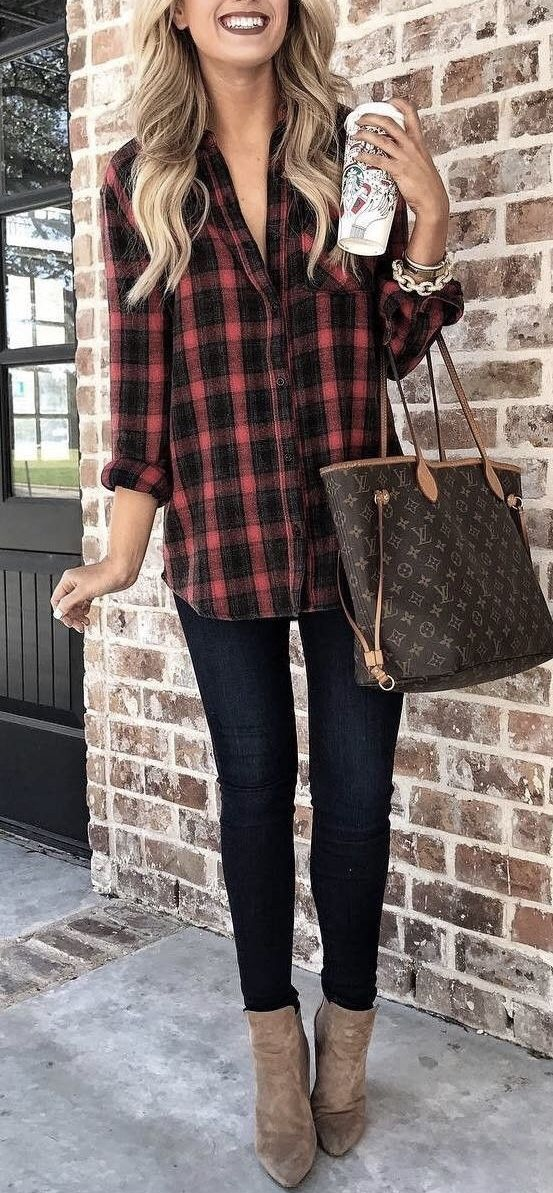 Trending Flanel Plaid Outfits