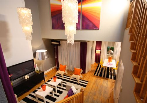 david-bromstad-modern-home-decor-no-place-like-home-room-with-magenta-orange-yellow-black-white-living-room.png  (501351) | Design | Pinterest | David ...