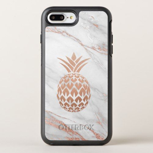 Rose Gold Foil Pineapple On White Marble Otterbox Iphone Case Zazzle Com Iphone Cases Otterbox Rose Gold Iphone Case Iphone Case Covers