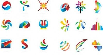18 Logo Elementos de diseño gráfico vectorial