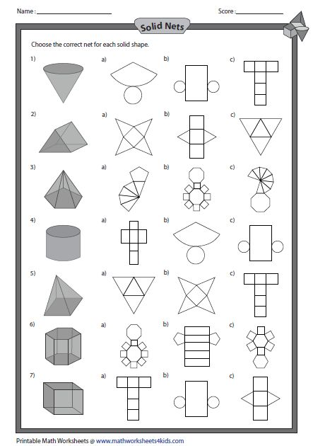 solid net and shapes maths 2d 3d shapes pinterest flats the shape and search. Black Bedroom Furniture Sets. Home Design Ideas