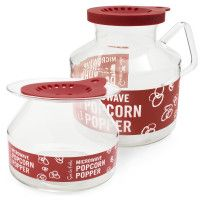 I love popcorn! With this nifty container you use regular popcorn (with or without oil) and pop it in your microwave. You can even put a pat of butter on the silicone lid that will melt and drip on the popcorn as it pops