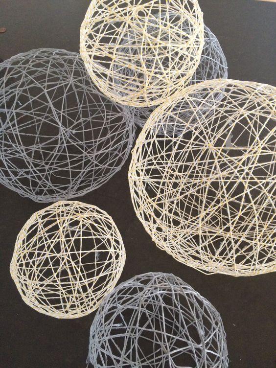 String Twine Balloon Decorations DIY Tutorial Doilies, Burlap & Twine Pinterest Twine ...