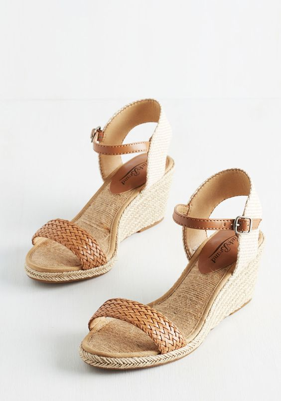 New Day, New Destination Wedge in Sand | Mod Retro Vintage Heels | ModCloth.com